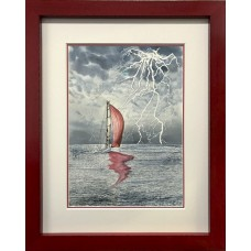 Framed Art - Electric Red by Charlie Marshall