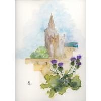 Print - Dunfermline Abbey by Nancy Aitken